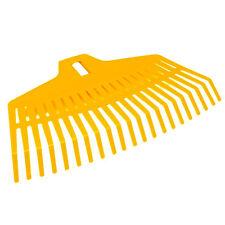 Laubbesen Laubrechen Fächerbesen Rechen Laub Kunststoff 24cm 25 Zinken mit Stiel