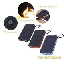 300000 mAH Solar Power Bank.CAMPING 2 LED LAMPE Solar Ladegerät Handy 2 USB ES