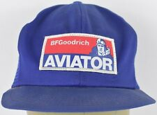Blue BF Goodrich Aviator Patch Pilot Trucker Hat Cap Adjustable Snapback