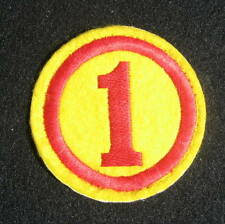 """NUMBER ~ 1~ ONE ~ EMBROIDERED SEW ON ONLY PATCH UNIFORM BADGE CREST 2 3/4"""""""
