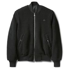 "Adidas Alexander Wang Reversible Sherpa Packaging Paper"" Bomber Jacket Black XXS"