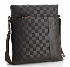 Fashion Men's Leather Messenger Bag Crossbody Shoulder Bags Business Satchel