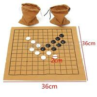 90Pcs Go Bang Chess Game Set Suede Leather Sheet Board Children Educational