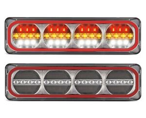 PAIR LED Autolamps 520ARWM Maxilamps Stop/Tail/Sequential Indicator & Reverse