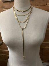 Luu fashion alloy multi-layer coin tassel bra body chain