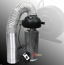 "Combo 6"" Inline Fan Air Blower Speed Controller w/ Odor Scrubber Carbon Filter"