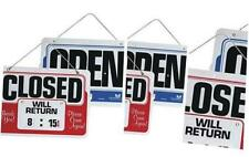 Double-Sided Open/Closed 8 Inches by 11 Inches Sign with Dial-A-Time Will Retur