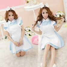 Blue Maid Cosplay Fancy Dress with petticoat, Hen Party Costume Outfit, UK XS-S