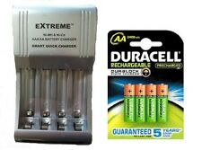 AA/AAA FAST 509 BATTERY CHARGER + 4 x AA 2500 mAh DURACELL DURALOCK BATTERIES