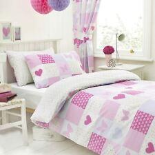 Textile Warehouse Patchwork Heart Pink Girls Kids Childrens Duvet Cover Set