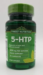 Finest Nutrition 5-HTP, 200mg, 30 Capsules