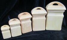 Série de 5 pots en terre cuite vernissée mouchetée céramique fait main