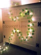 Ivy leaf garland 2m mini led fairy string lights wedding decoration woodland