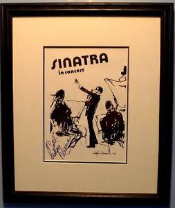 Signed Leroy Neiman Frank Sinatra Concert Lobby Card 1974