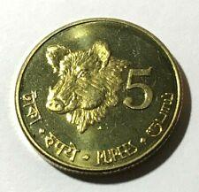 2011 Andaman Nicobar 5 rupees, Indian Wild Boar, Pig, wildlife animal