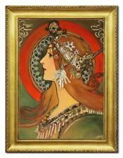 Art Deco- & künstlerische Öl-Malerei mit Porträts Personen