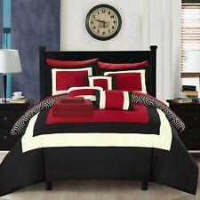 Kavalier 10 Piece Comforter Set Hotel Collection Color Block Geometric...
