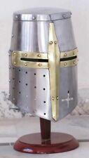 More details for medieval templar crusader knight armor helmet
