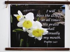 I Will Bless The Lord Scroll, A Promise Scroll, Commitment Scroll, by HTC