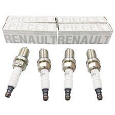 GENUINE 4x Spark Plug Set RENAULT 7700500155 CLIO II KANGOO LOGAN I THALIA I
