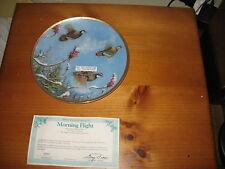 "Owen J. Gromme 8"" Collector Plate , Morning Flight"