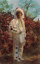 Sam Tilden~Sumken~Nez Perce~Lolo Trail~Full Dressed Native American Postcard