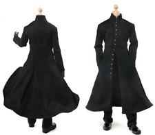 1/6 Scale Soldier Accessories Clothes Black Overcoat Coat Cape Suits