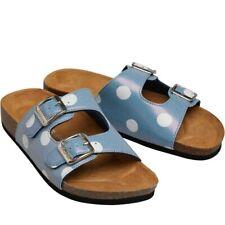 Womens Cath Kidston Slydes Sandal Sliders Flip Flop Shoes Blue Pool Slippers