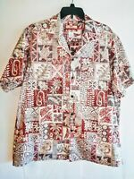 RJC Made In Hawaii Mens Size XL Short Sleeve Collared Hawaiian Shirt