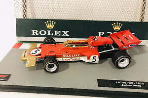 F1 Car Collection Upgraded Full GOLD LEAF LOTUS 72C Jochen Rindt 🇦🇹1970 Superb