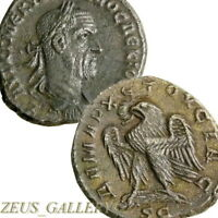TRAJAN DECIUS Tetradrachm Eagle Prieur 588 Large Ancient Roman Coin Antioch