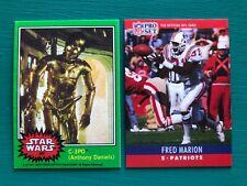 1977 Topps Star Wars C-3PO Golden Rod & 1990 Pro Set Hanging Belt Reprint Cards