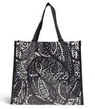 Lot Of 2 Nwt Vera Bradley Square Market Totes Reusable Bag Paisley Noir