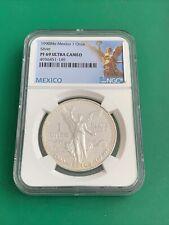 1990-Mo Mexico Proof Silver Libertad 1oz Silver Coin NGC PF 69 Ultra Cameo