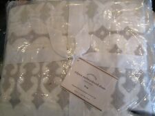 2 Pottery barn Rilynn embroidered King quilted shams New w tag