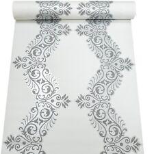 Erismann White Silver Swirl Glitter Charcoal Grey Shimmer Metallic Wallpaper