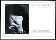 1975 Andy Warhol scar torso Richard Avedon photo NYC gallery print ad