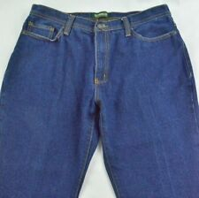 Men's Outdoor Life Regular Fit 100% Cotton Jeans Dark Blue Size 34x28