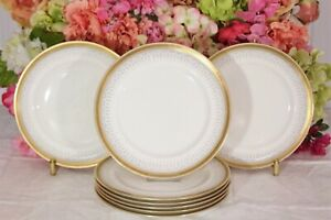 Gorgeous, Royal Doulton, Gilt Rimmed Luncheon Plates (8)