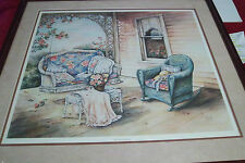 The Porch Swing artist Paula Vaughn signed numbered Framed