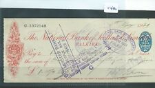 CHEQUE - CH1436 -  USED -1881 - NATIONAL BANK OF SCOTLAND, FALKIRK