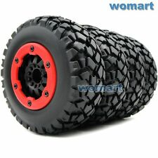 4pcs RC 1/10 Short Course Buggy Off Road Tires & Hex 12mm Beadlock Wheels Rims