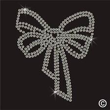 Bow Strass Diamante Transfert Fer Sur Hotfix Cristal gem motif applique patch
