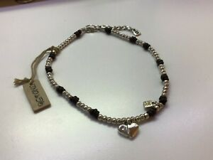 """NWT Uno de 50 Silver-plated/Leather Knot Heart Necklace """"Julieta"""""""