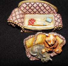 "Harmony Kingdom ""Simba & Saffron's Settee"" Hand Crafted 2001"