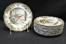 Johnson Brothers Friendly Village Set of 12 Bread & Butter Plates (Sugar Maples)