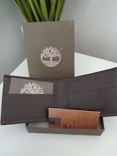 Timberland Full Leather Wallet Brown Chocolate Stylish Man Gift