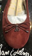 SAM EDELMAN Felicia PAPRIKA Suede Leather BALLET FLATS  $100 NEW red 7 8
