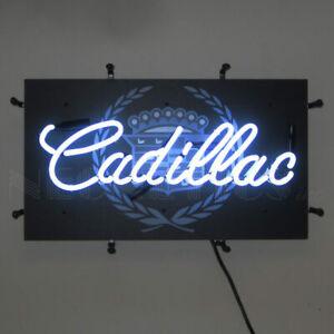 "Cadillac Junior Car Garage Man Cave Light Neon Sign 22"" by 12"""