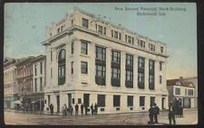 POSTCARD RICHMOND IN/INDIANA NATIONAL BANK & FELTMAN SHOE STORE 1907